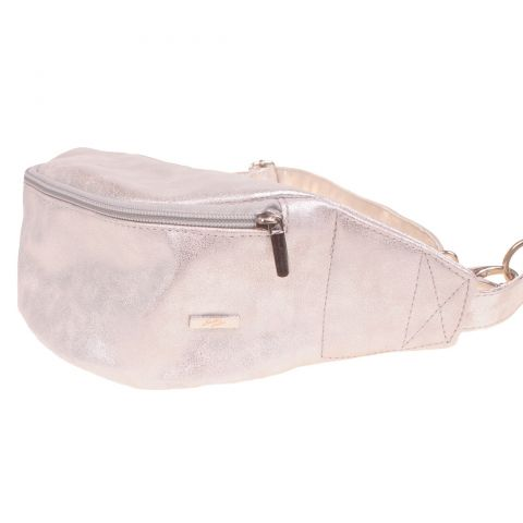 Ewa Lu Bum bag shining silver