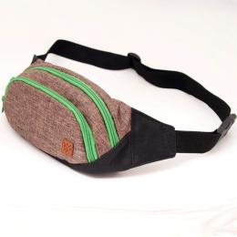 Nuff Bum bag - brown & green