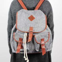 Nuff backpack - gray & brown