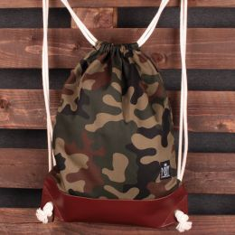 Tote backpack Nuff | Woodland camo