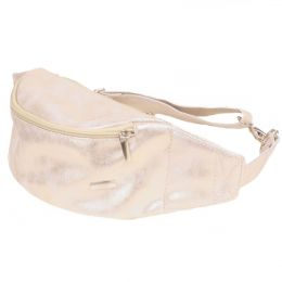 Ewa Lu Bum bag shining white gold