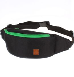 Nuff fanny pack - black & green