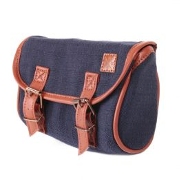 Nuff classic bicycle saddle bag | Navy
